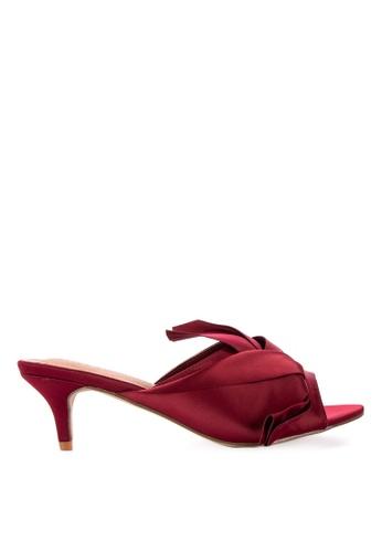 S&H red Kassie Heeled Slides D808DSHD2E5955GS_1