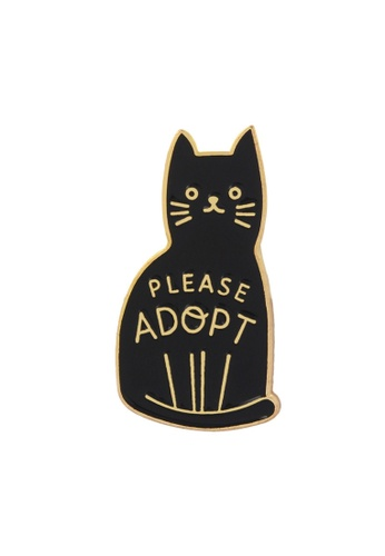 Kings Collection black Black Cat Enamel Pins (KCPN1095) A8496AC8848E0BGS_1