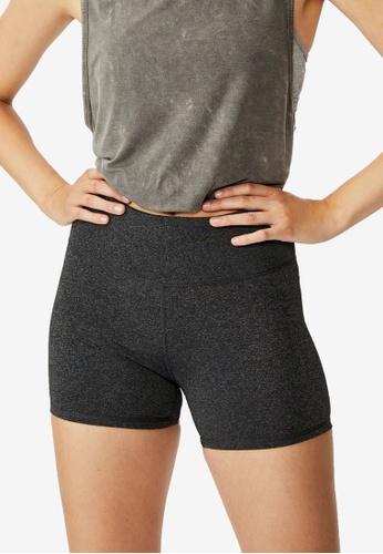 Cotton On Body grey High Waisted Shortie Shorts F8A44AA8DA4269GS_1
