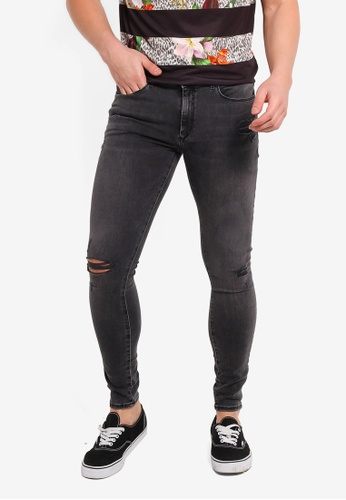 fe0f0df2d45 Buy River Island Ollie Spray On Ripped Jeans Online on ZALORA Singapore
