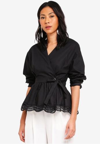 Megane black Essential Maiara Wrap Top 4B817AAD8A3951GS_1