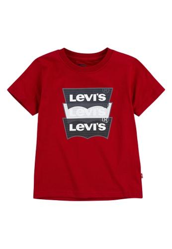 Levi's Kids red LEVIS Big Boy Triple Batwing Overlap T-shirt 71129KAEC86761GS_1