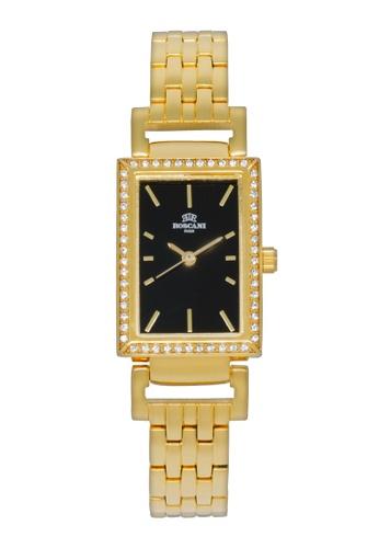 Roscani gold Roscani Francesca B59 (Aluminium Brushed Dial) Gold Black Bracelet Women Watch BCF48ACC7B5DBAGS_1