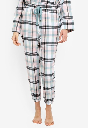 Cotton On Body multi Dropped Flannel Pants D246CAA93D3B7AGS_1
