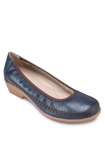 Glynis 拼色esprit outlet低粗跟鞋, 女鞋, 鞋