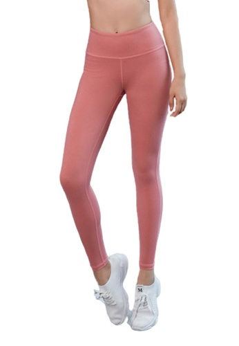 B-Code pink ZYG3041-Lady Quick Drying Running Fitness Yoga Sports Leggings -Pink 06BBAAAC076753GS_1