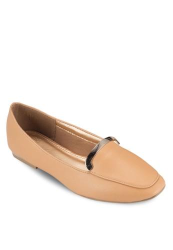 金屬飾平底鞋,esprit地址 女鞋, 鞋