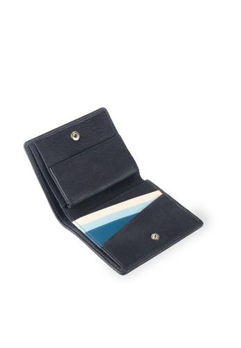 Samuel Ashley grey Logan Vertical Bi-fold Wallet with Coins (RFID) - Storm Grey/Denim 29397ACD276EB3GS_1