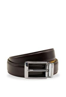 Martino Mens Belt Mens Belt Leather Business Antique Belt Mens Youth Leather Pin Buckle Belt Leather Brown Belt