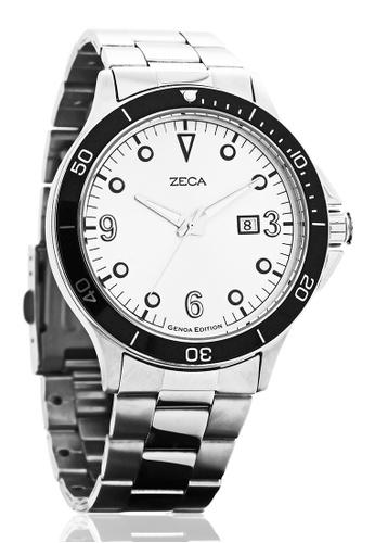 ZECA silver Zeca Watches Men Fashion Stainless Steel Analog - 2007M Silver ZE260AC50SMFSG_1