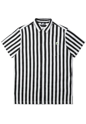 Mini cream black Stripe pocket shirt AC0E0AADF8A50EGS_1