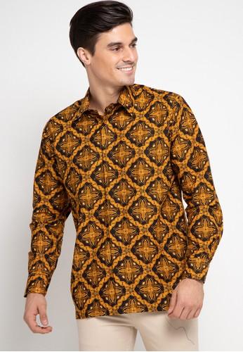 Batik Indra Loka orange Long Sleeve Soga Emas B6DB1AACDC4CEFGS_1