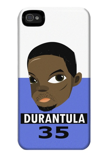 Wonder Cover black and white and brown and blue Durantula Matte Hard Case for iPhone 4, 4s WO617AC72ZIHPH_1