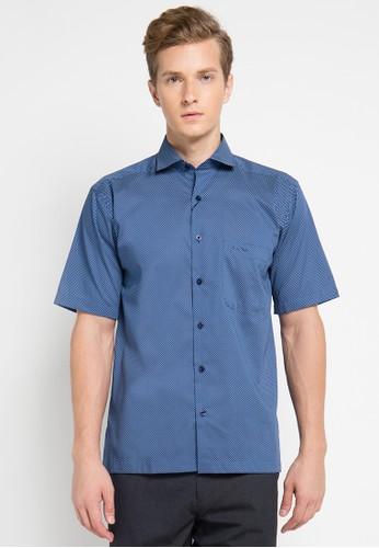 Pierre Cardin Apparel navy Shirt Short Sleeve PI754AA0UIUAID_1