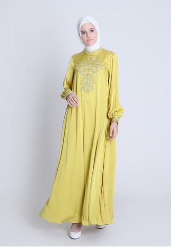 BellyBee green Laraya Dress 03B75AAF07EFF2GS_1