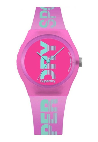 Superdry pink Superdry Pink Silicone Watch A9D79AC7833879GS_1