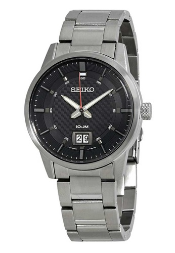 Seiko silver Seiko Neo Sports Black and Silver Stainless Steel Watch BD120ACA12F6BBGS_1