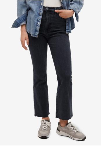 Mango grey Crop Flared Jeans 260D1AAF4EADD1GS_1