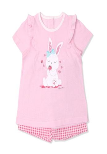 Organic mom pink Organic Cotton Jenny Rabbit Pajamas 58365KA3F2F859GS_1
