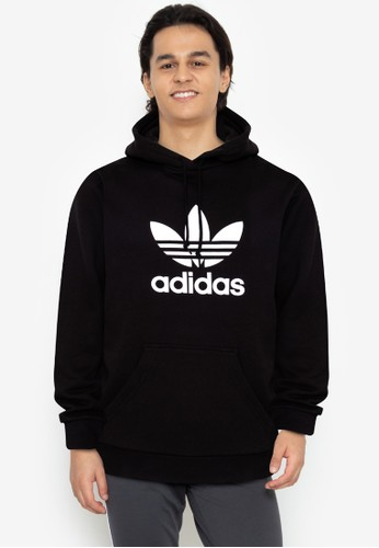 ADIDAS black trefoil warm-up hoodie 60D45AA06FCB9CGS_1