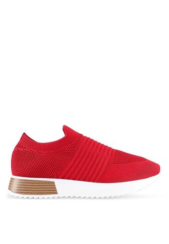 River Island 紅色 雙色編織運動鞋 4213ESH162DD60GS_1