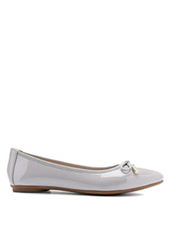 Twenty Eight Shoes grey Bow with Metal Decoration Ballerinas VL102878 82D7DSHC907AEFGS_1