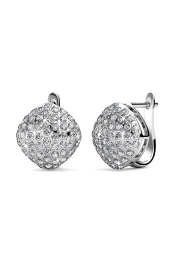 Her Jewellery silver Peyton Clip Earrings -  Made with premium grade crystals from Austria HE210AC0FTQQSG_1