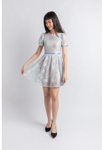 Love Knot blue Luxe Lace Dress (Mint Blue) A1790AA5CD00C4GS_1