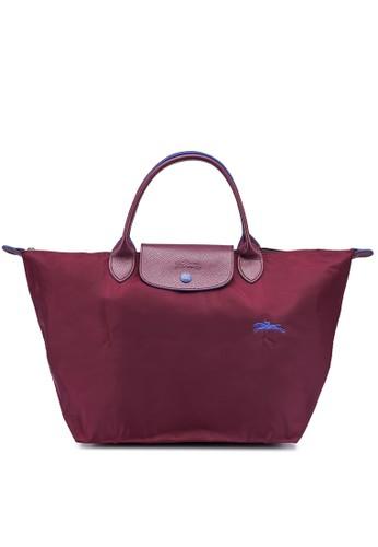 LONGCHAMP purple Le Pliage Club M Top Handle Bag (zt) 24395AC9E07699GS_1