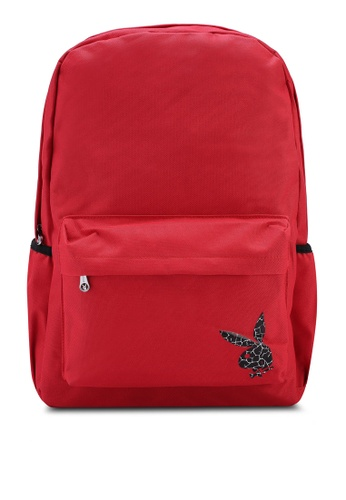 Playboy red Playboy Backpack 6E60AACD8F02D6GS_1