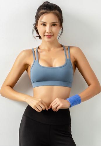 HAPPY FRIDAYS Women's Medium Support Sports Bra DK-WX16 E98A9AAA6E9D33GS_1