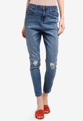Miss Selfridge blue Lizzie Authentic Busted Knee Jeans 3FB00AA0D0D102GS_1