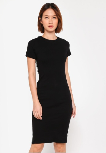 Dorothy Perkins black Petite Black Sport Trim Dress FEC18AA0EFEA86GS_1
