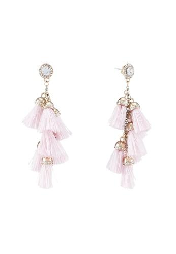 Vero Moda pink Florella Earrings 41550AC9DE158EGS_1
