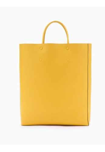 Calvin Klein yellow Enveloped Square Shopping Tote 8C540AC97DB0B3GS_1