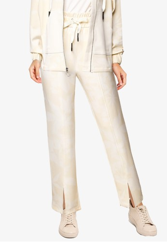 Desigual white Wide comfortable trousers with drawstring FDE00AA629139FGS_1