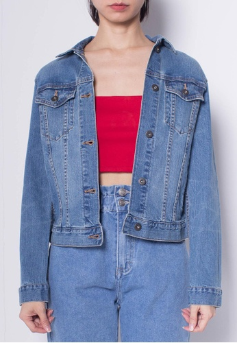 SUB blue Women Denim Jacket With Vintage Washing 6CD30AAA94A30AGS_1