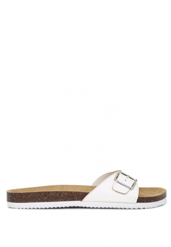 London Rag white Comfort Sliders with Adjustable Toe Strap F1B3BSH556AA65GS_1