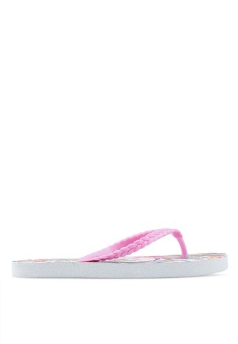 OVS multi Rubber Flip Flops With Braided Straps 1CAEASH64F182AGS_1