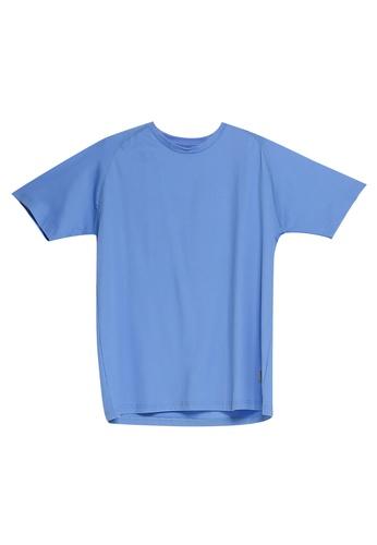 UniqTee 藍色 圓領T恤 4F2F9AA6D25D41GS_1