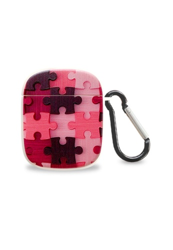 Kings Collection pink Puzzle Pattern AirPods Case (KCAC2218) FF9DBAC3547F2EGS_1