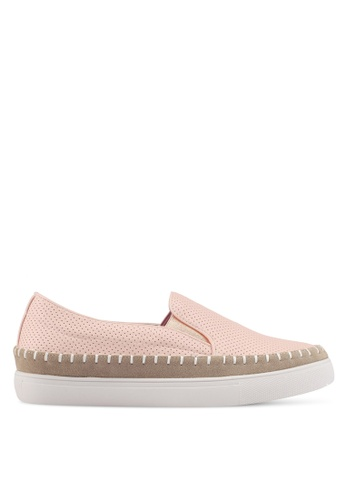 Something Borrowed pink Perforated Espadrille Slip Ons D4046SH3490CEDGS_1