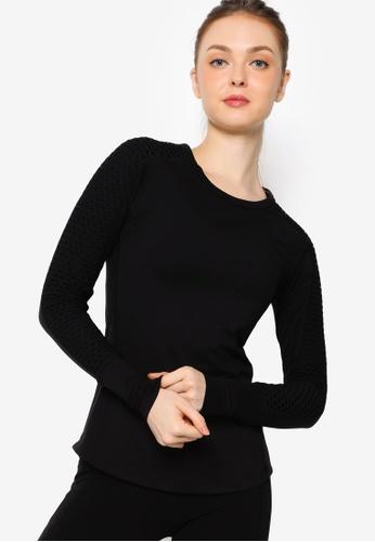 Lorna Jane black Nightfall Long Sleeves Active Top 3456AAAAAD9CAEGS_1