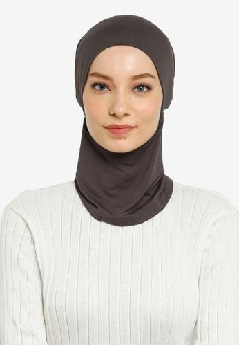 Hijabii grey Cady Inner Neck Tie in Dark Grey D054AAAD22C97CGS_1