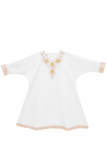 FIYORA beige Delila Cotton Girl Dress Moslem A2CCBKAD840055GS_1