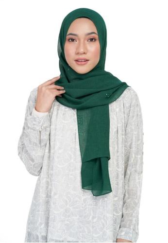 KASHKHA green Chiffon diamante shawl-DK.GRN 69EB5AAE4470B0GS_1
