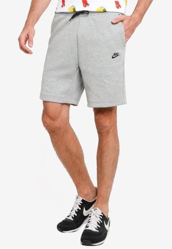 Nike black and grey Tech Fleece Shorts 821D3AA82CF3B4GS_1