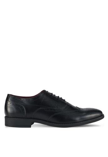 ACUTO black Wingtip Leather Dress Shoes AC283SH0SL5FMY_1