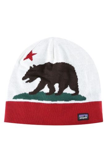 Patagonia red and multi Printed Beanie PA549AC0RQF6MY_1