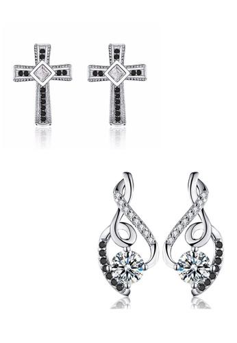A-Excellence white Premium Elegant White Silver Earring Set 9C772ACE4C894BGS_1